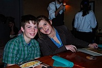 Vince & Shayla at his 13th birthday dinner