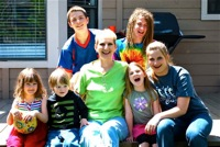 Robin with grandkids
